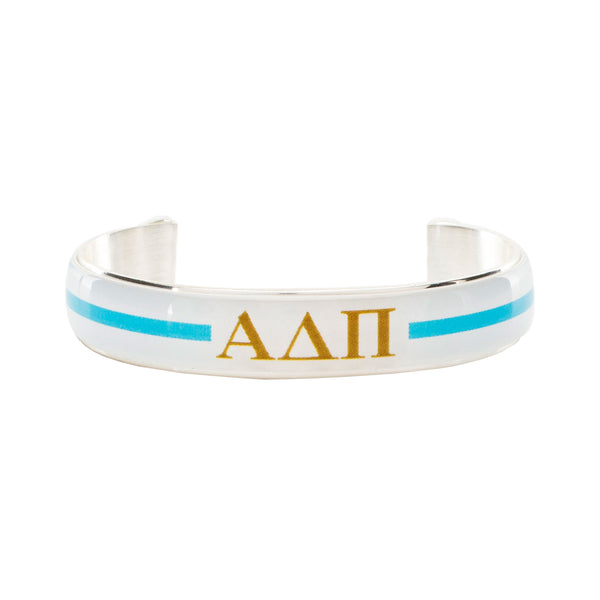 Art Deco .5 - Alpha Delta Pi Greek Letters Varsity Stripe