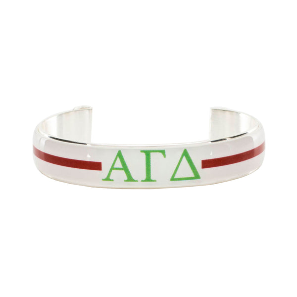 Art Deco .5 - Alpha Gamma Delta Greek Letters Varsity Stripe