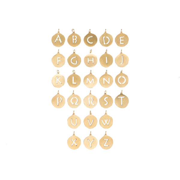 Adele - December Initial Necklace - Gold