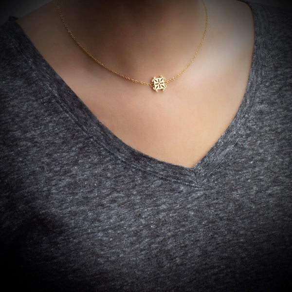 Jane RC Logo Necklace - Gold