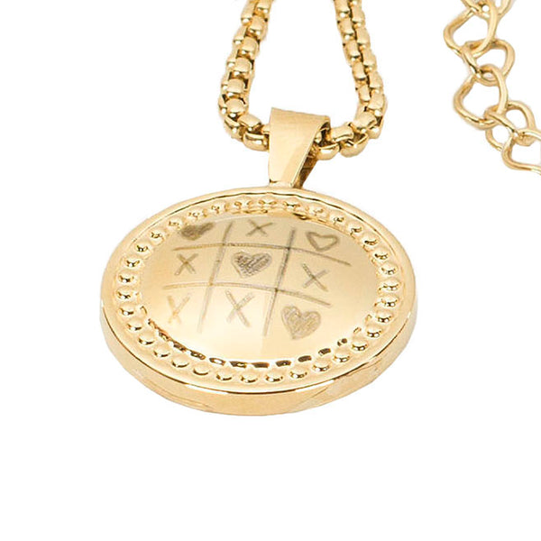Carol Tic Tac Toe with Heart - Gold