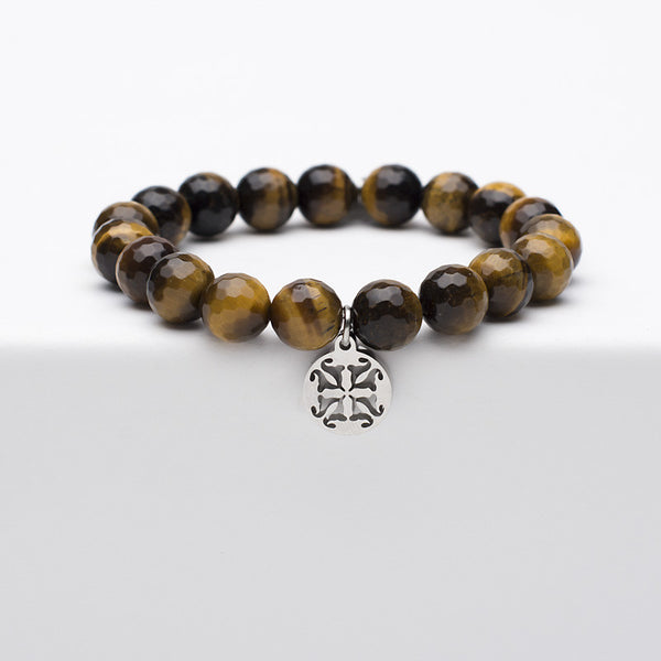 Erika - Tigers Eye Onyx with Silver