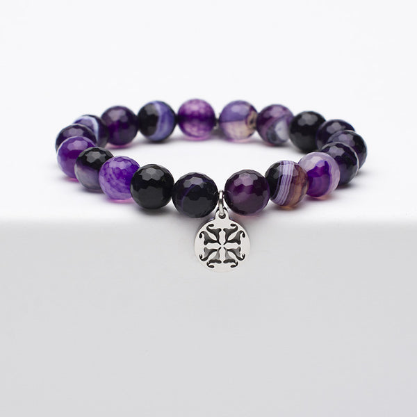 Erika - Purple Onyx with Silver