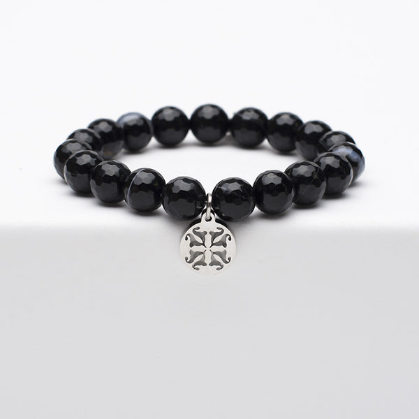 Erika - Black Onyx with Silver