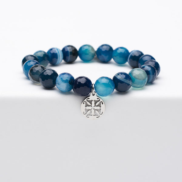 Erika - Blue Onyx with Silver