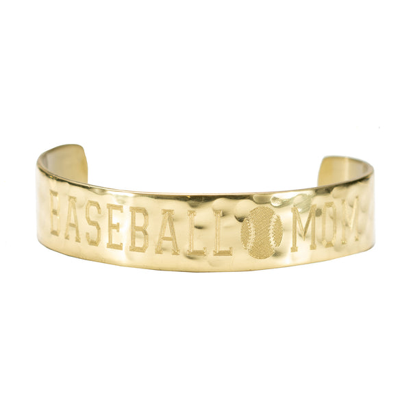 "Proud Mom Engraved 1/2"" Baseball Mom"