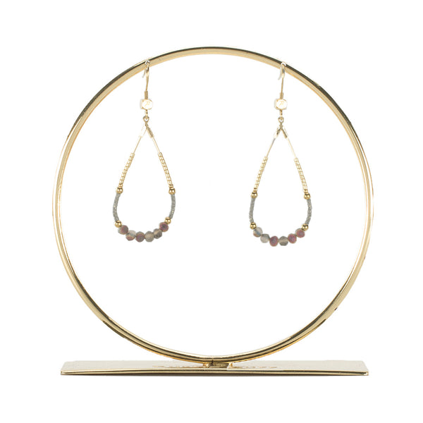 Bianca Earring Gray - Gold