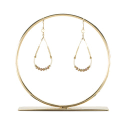 Bianca Earring White and Metallic Rose - Gold