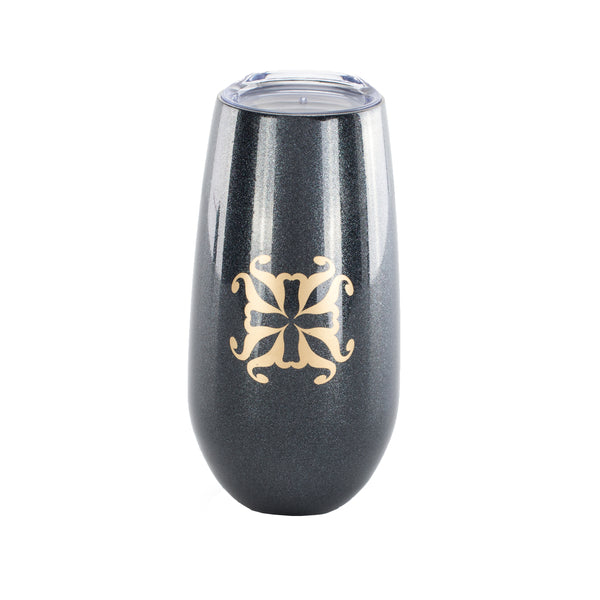 RC Champagne Flute Black with Gold