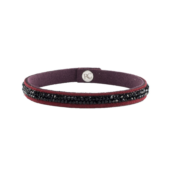 Leah Mini Burgundy with Black Crystals