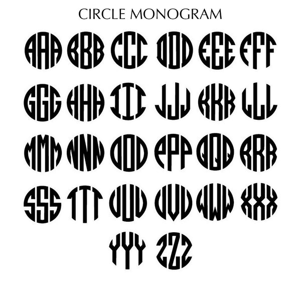 Custom Monogram Brandi Brown - Silver