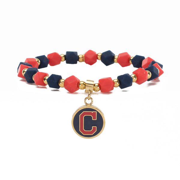 MLB Hexagon Beaded - Cleveland Indians on Gold