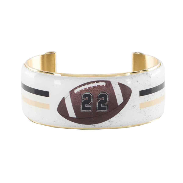 Art Deco 1.0 Custom Number Football Varsity Stripe - Gold