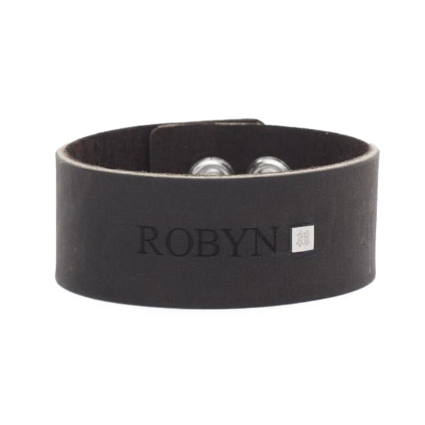 Leather Snap Cuff 1.0 - Custom with RC Logo Rivet - Silver