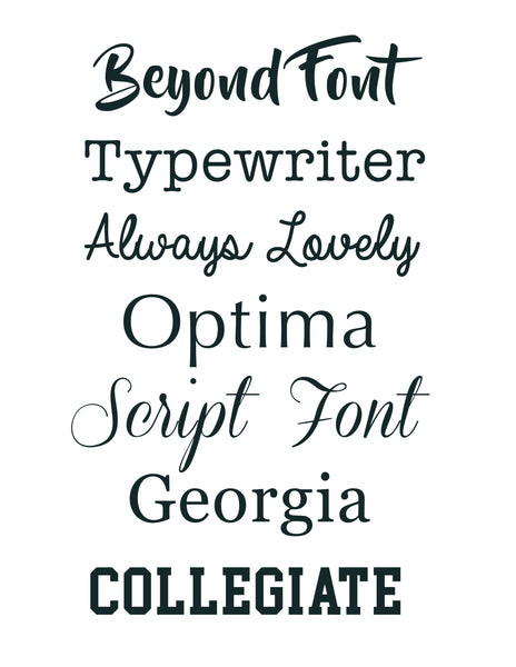 Custom Engraved Font - Brandi Autumn Collection with Silver