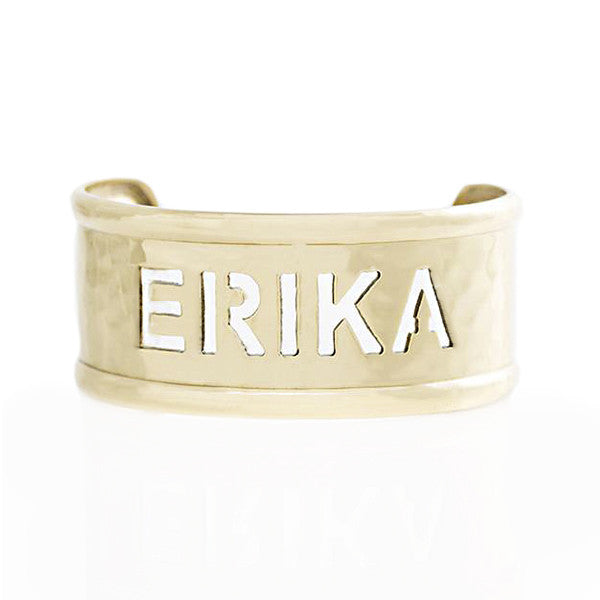 Rimmed Cut Out 1.0 Name Gold