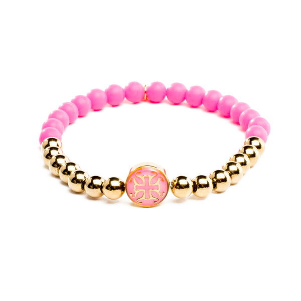 Mini Melanie Neon Pink with Gold