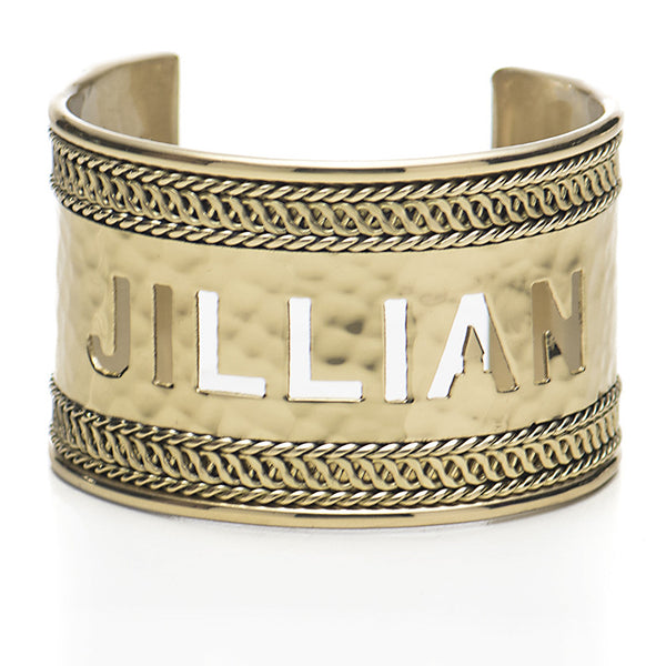"Braided 1.5"" Cut Out Name - Gold"