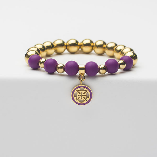 Carlyle Neon Purple with Gold