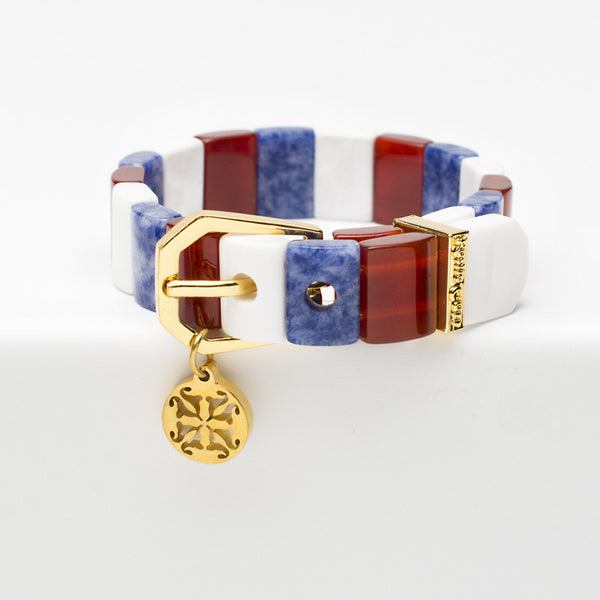 Charay Patriotic - Red, White & Blue with Gold