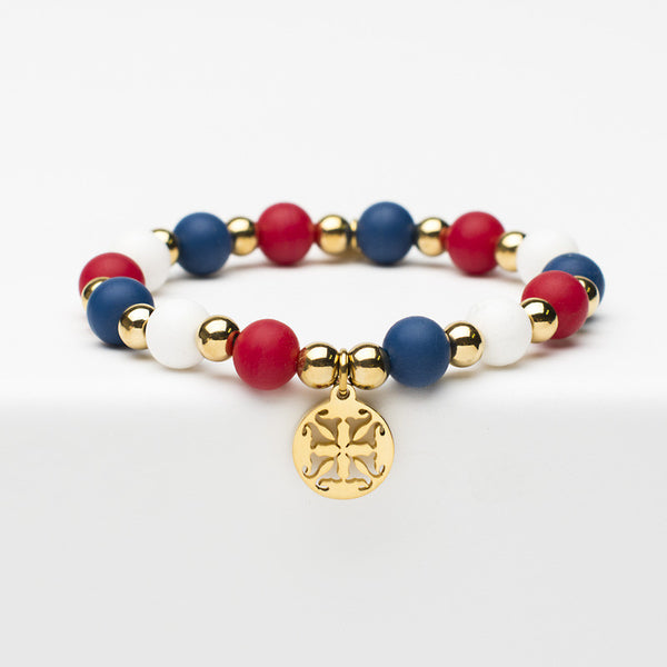 Erin Patriotic - Red, White & Blue with Gold