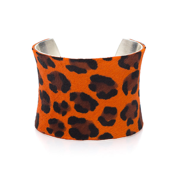 "Calfskin Orange Leopard 2.0"" Concave"