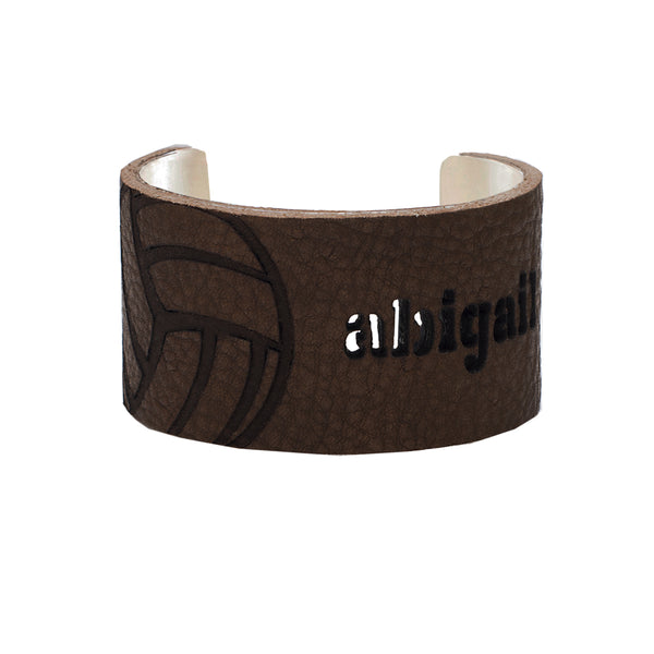 "1.5"" Custom Leather Sport Overlay - Volleyball"