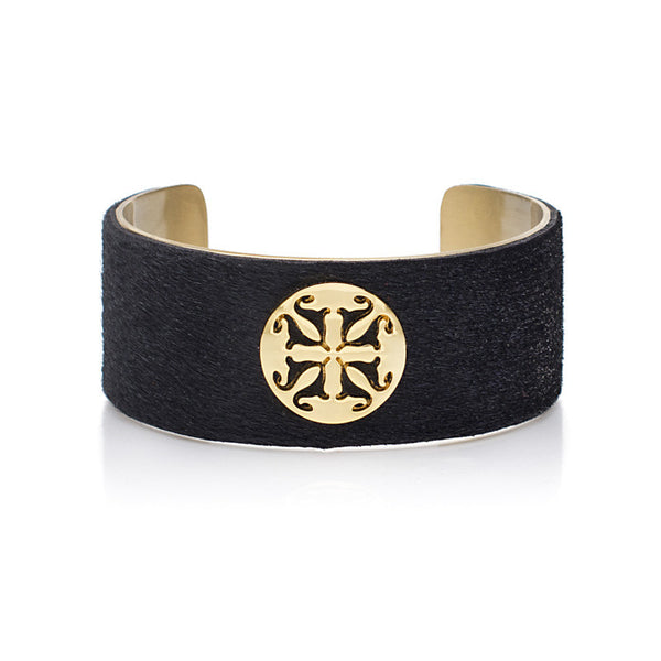 "Calfskin Black 1.0"" Gold with Gold Logo"
