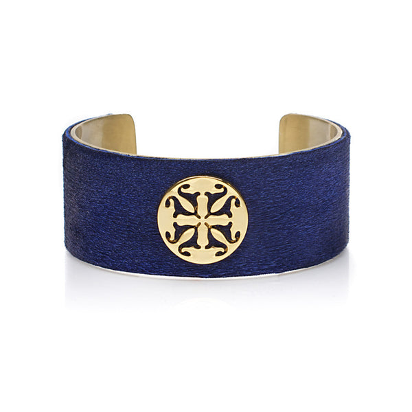 "Calfskin Cobalt Blue 1.0"" Gold with Gold Logo"