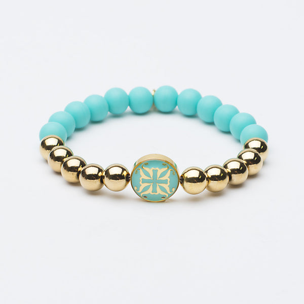 Melanie Grand Turquoise with Gold