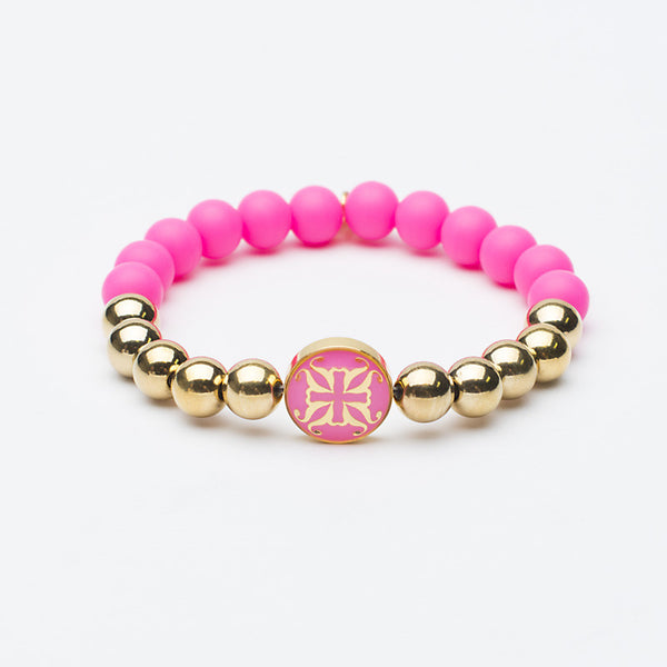 Melanie Grand Neon Pink with Gold