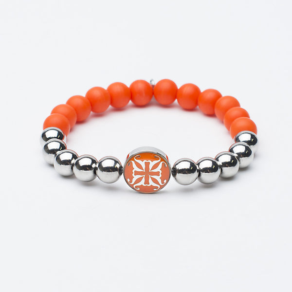 Melanie Grand Neon Orange with Silver