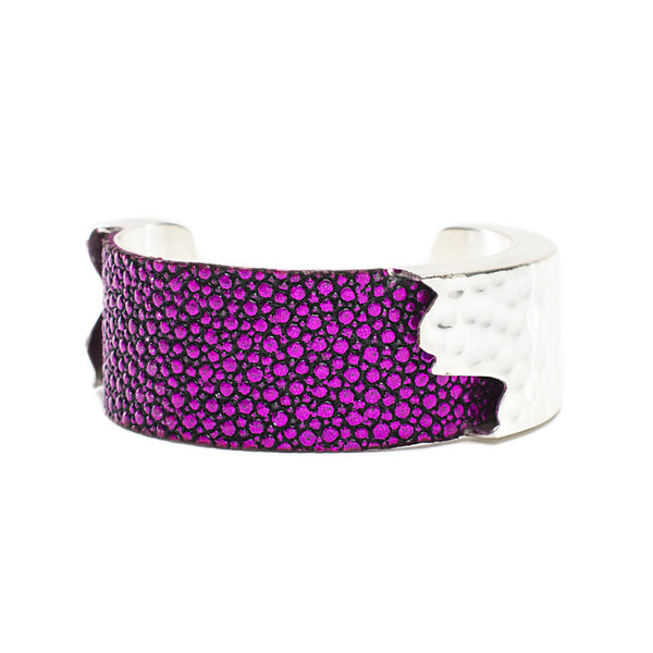 Dallas 1.0 Metallic Fuchsia Stingray with Silver