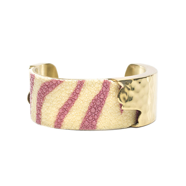 Dallas 1.0 Pink Zebra Stingray with Gold