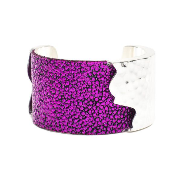 Dallas 1.5 Metallic Fuchsia Stingray with Silver