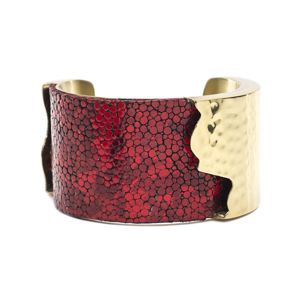 Dallas 1.5 Metallic Red Stingray with Gold