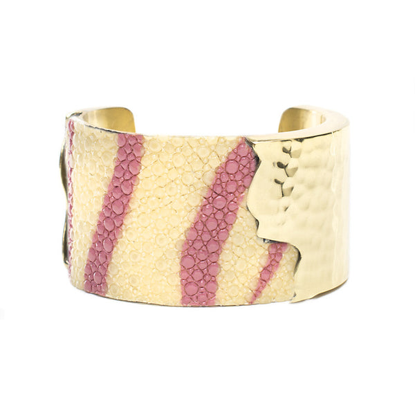 Dallas 1.5 Pink Zebra Stingray with Gold