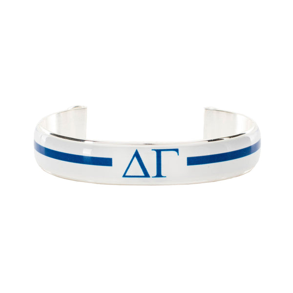 Art Deco .5 - Delta Gamma Greek Letters Varsity Stripe