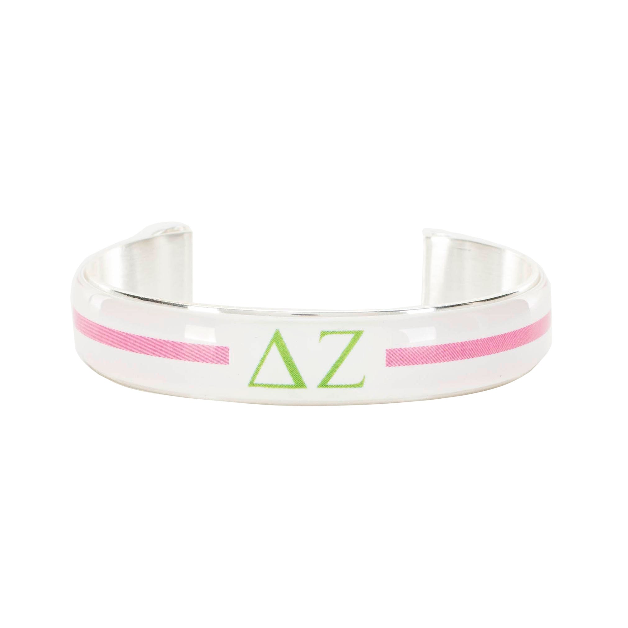 Art Deco .5 - Delta Zeta Greek Letters Varsity Stripe