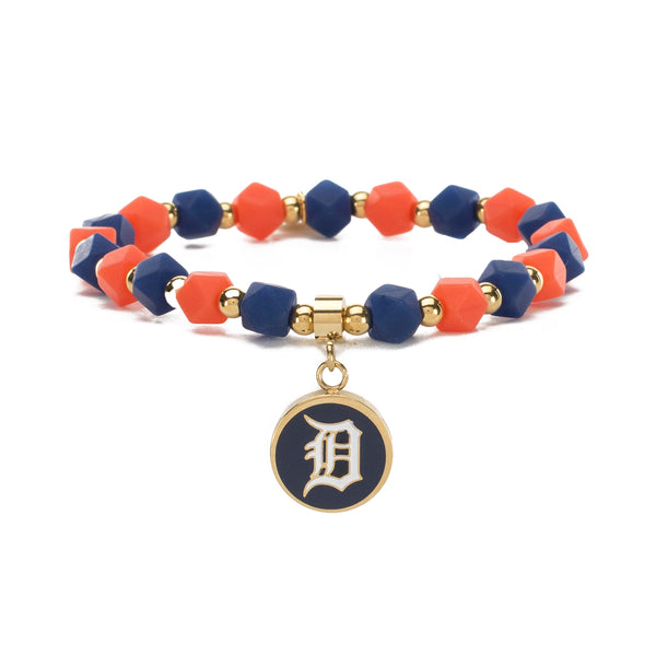 MLB Hexagon Beaded - Detroit Tigers on Gold