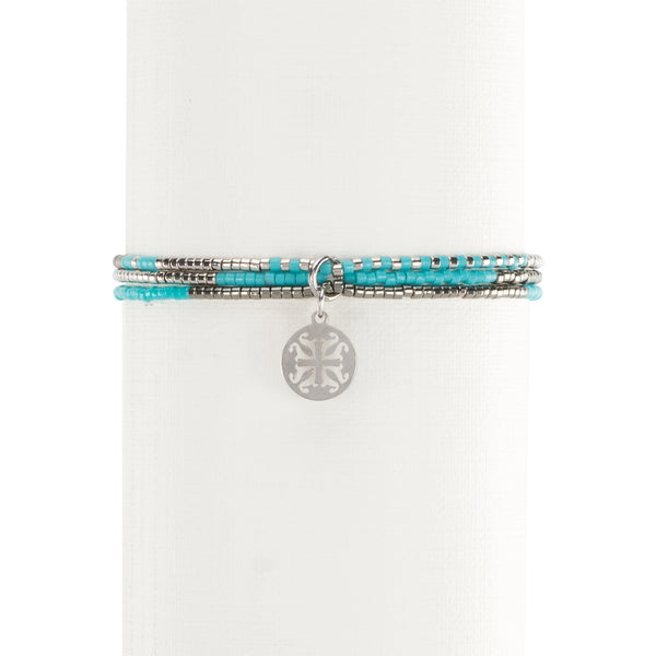 Fynlee Turquoise/Gray/Silver - Silver