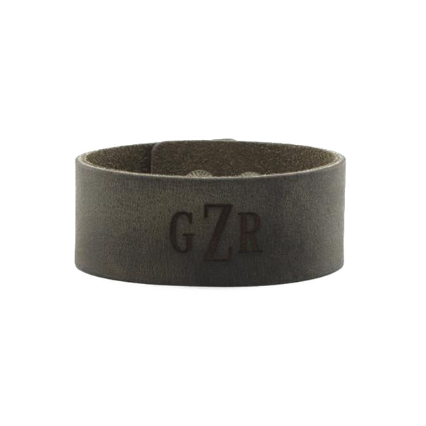 Leather Snap Cuff 1.5 - Custom Monogram
