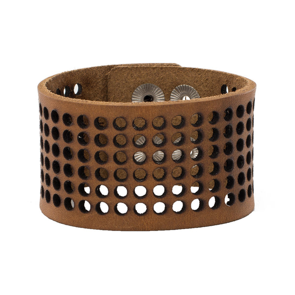 Dottie 1.5 Leather Snap Cuff - Goldenrod
