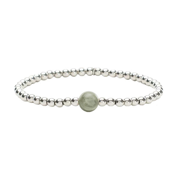 Ireland Mini Stone Peace Jade - Silver