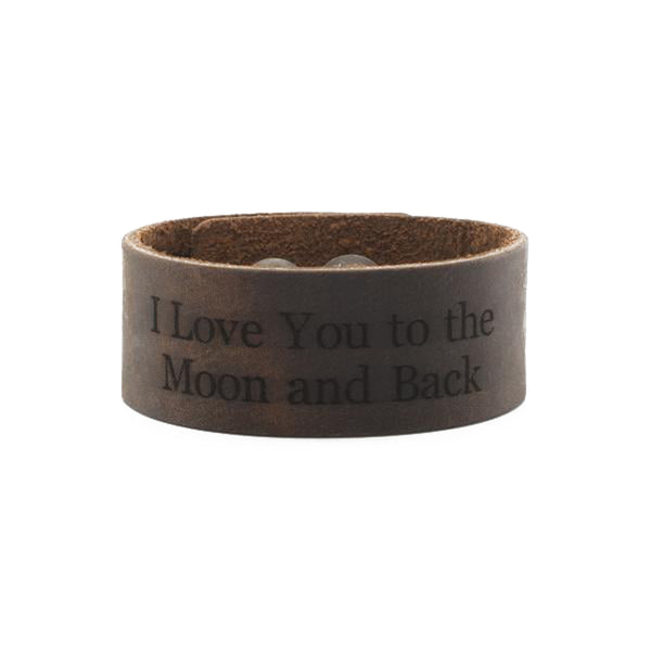 Leather Snap Cuff 1.0 - Custom Text