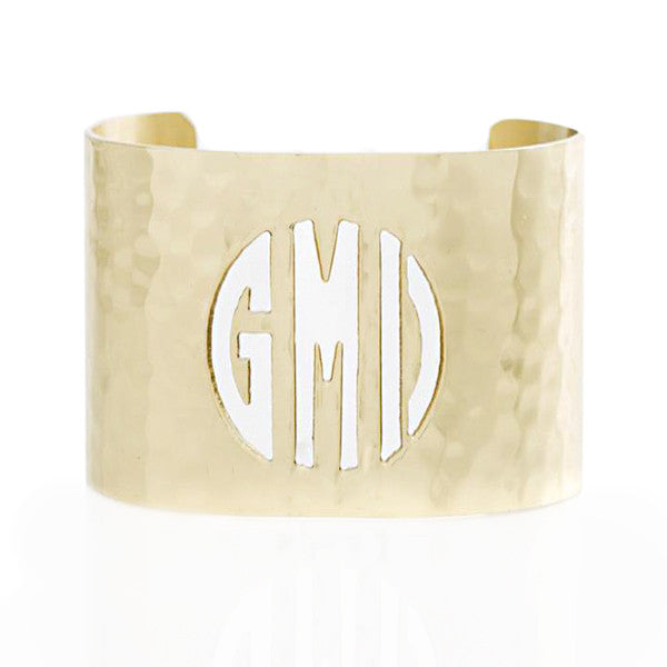 Cut Out 1.5 Monogram Gold