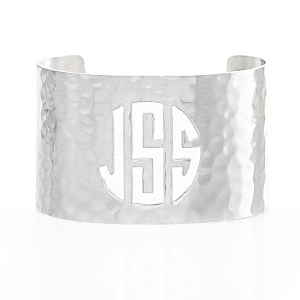 Cut Out 1.5 Monogram Silver