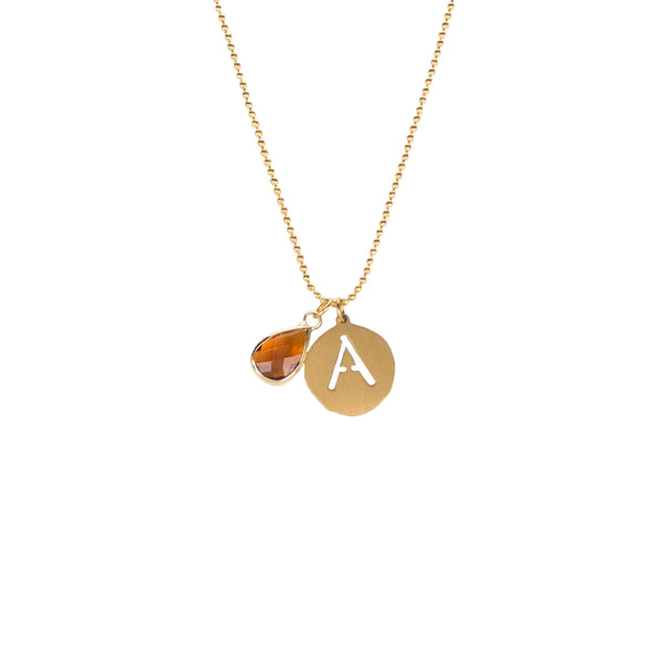 Adele- January Necklace - Gold