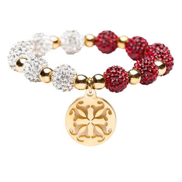 Kaleidoscope Maroon/White Gold