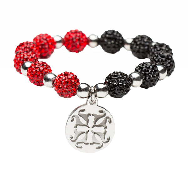 Kaleidoscope Red/Black Silver
